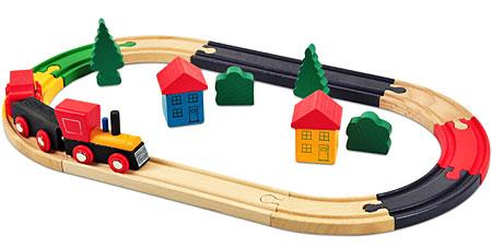 Holzeisenbahn-Starter-Set 19 Teile