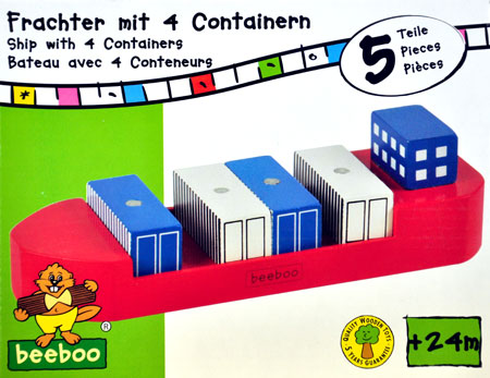 großes Containerschiff inkl. Containern