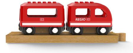 """Noppi Zug """"Regio"""" rot mit 2 Wagen"""
