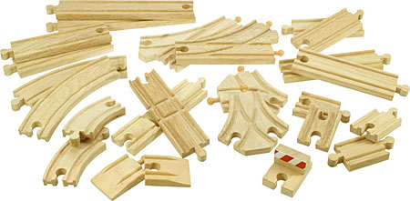 Holzschienen-Set