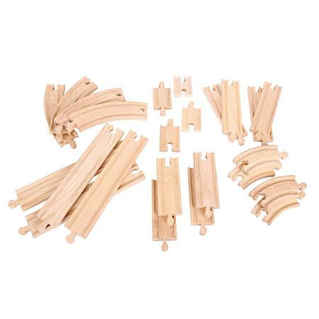 24-teiliges Set mit geraden und gebogenen Schienen