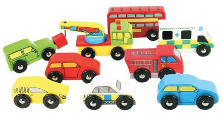 Großes Fahrzeugset mit 9 Teilen