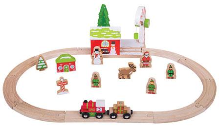 """Holzeisenbahn-Set """"Winterwunderland"""""""