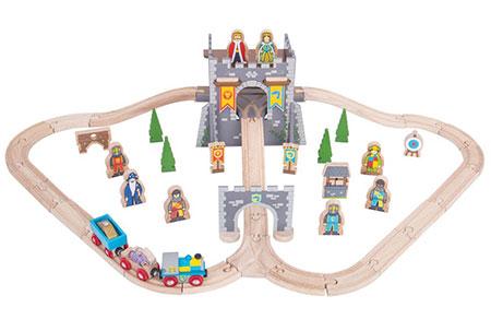 """Holzeisenbahn-Set """"Mittelalter"""""""