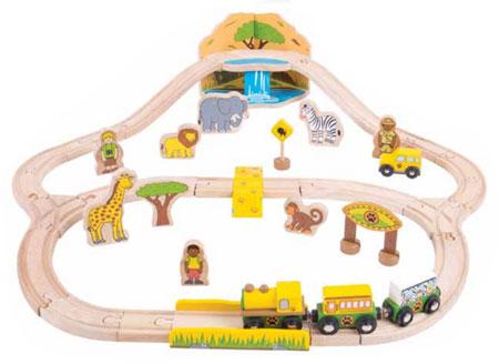 "Holzeisenbahn-Set ""Safari"""