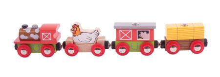 """Lokomotive mit Anhängern """"Bauernhof"""""""