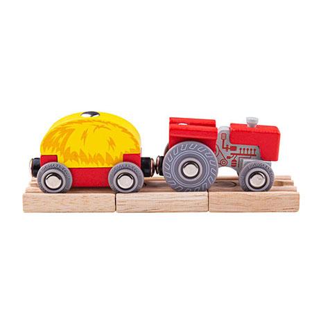 Traktor mit Heu-Wagon