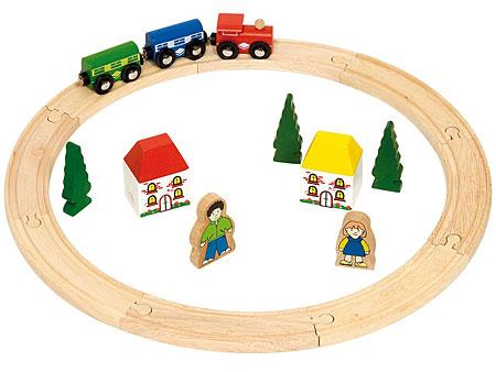 Mein erstes Holzeisenbahn-Set