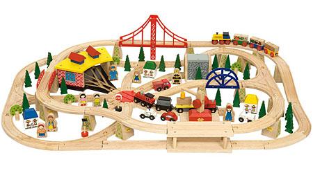 Riesiges Hochbahn Set inkl. Holzkiste