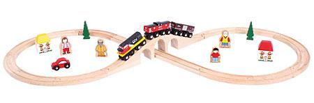Kanadisches Holzeisenbahn-Set