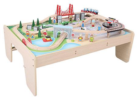 Spieltisch mit Stadt-Set