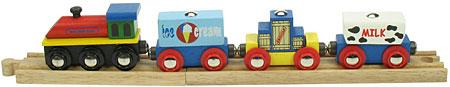 Güterzug auf 2 Schienen