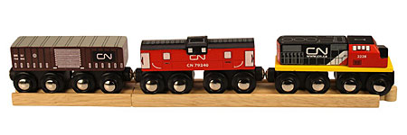 Kanadischer Zug auf 2 Schienen