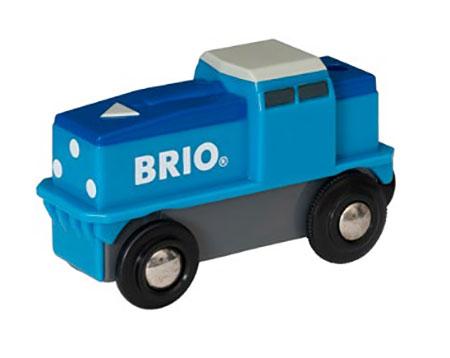 Blaue Batterie Frachtlok (BRIO)