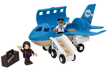 Blaues Flugzeug (Brio)