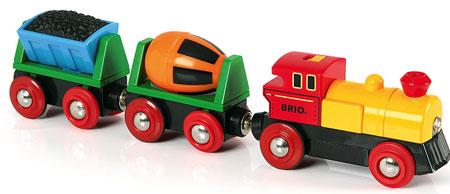 Zug mit Batterielok (Brio)