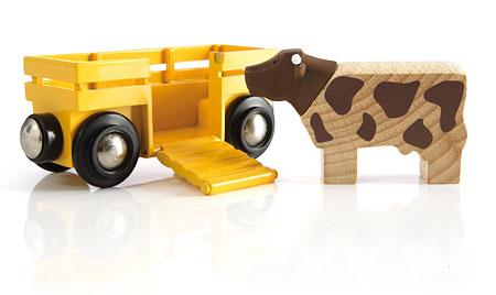 Tierwagen mit Kuh (Brio)