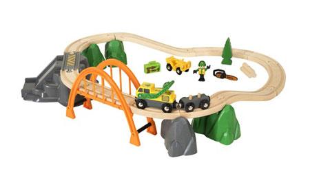 Holzeisenbahn - Waldarbeiter-Set