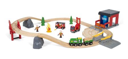 Großes Deluxe Feuerwehr - Bahnset