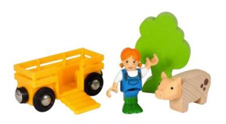Figurenset - Bäuerin mit Schwein (BRIO)