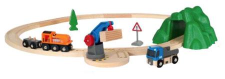 Starterset Güterzug mit Kran (BRIO)
