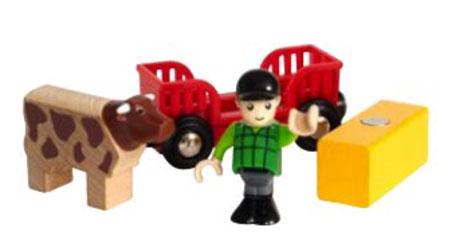 Figurenset - Bauer mit Kuh (BRIO)
