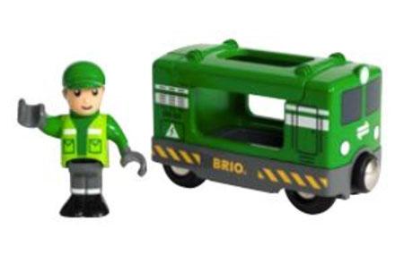 Frachtlok mit Fahrer (BRIO)