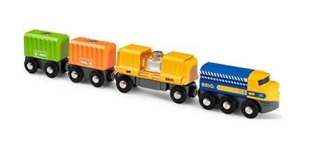 Großer Güterzug mit Magnetladung (BRIO)