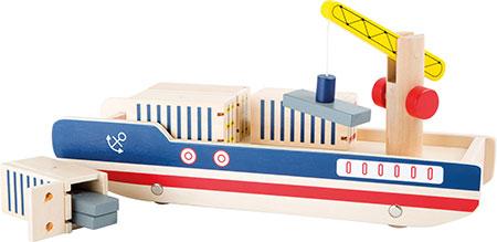 Containerschiff mit Verladekran