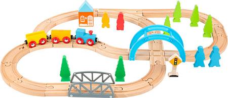 """Holzeisenbahn-Set """"Große Reise"""""""