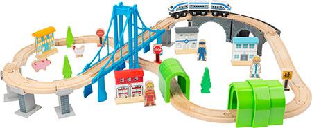 "Holzeisenbahn-Set ""Brückenschlag"""