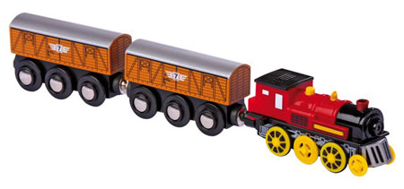Elektrische Lokomotive mit 2 Anhängern