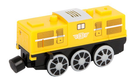 Große gelbe elektrisch-betriebene Lok