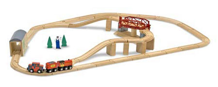 Bahnset mit Drehbrücke