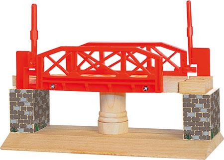 Drehbrücke mit Schranken
