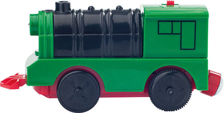 Grüne Lokomotive (batteriebetrieben)