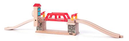 Zugbrücke mit Rampenschienen