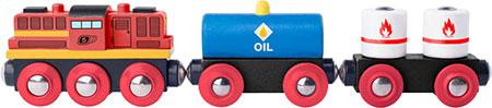 Diesellok mit 2 Güterwaggons