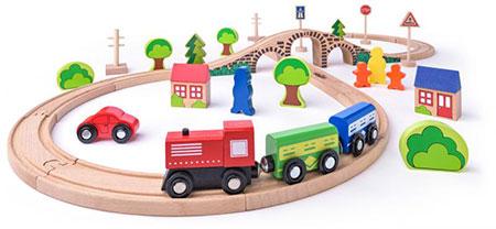 Bahn Acht Set mit Lokomotive und tollem Zubehör